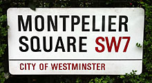 Westminster council street sign